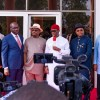 Delta State Governor, Senator Ifeanyi Okowa (3rd right), Governor of Bayelsa, Senator Douye Diri (right), Governor of Akwa-Ibom State, Emmanuel Udom (2nd right), Governor of River State, Nyesom Wike (3rd left), Governor of Edo State, Dr. Godwin Obaseki (2nd left) shortly after the South, South Governors Meeting in Asaba. Thursday, 5/3/20.