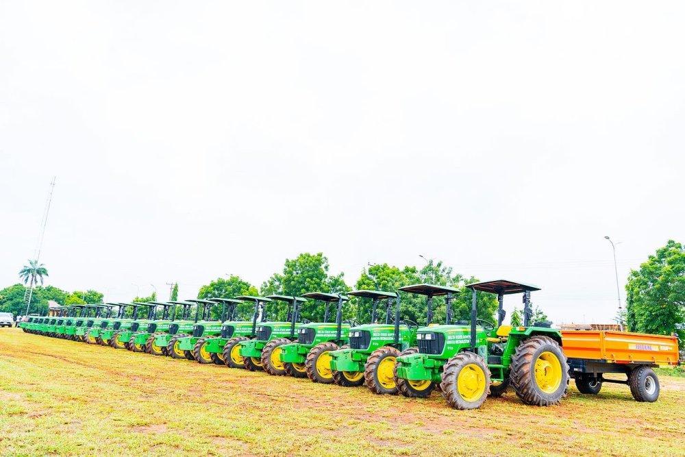 The newly inaugurated Tractors procured by Delta State Government for the enhancement of Agriculture in the State.