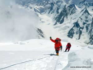 Alan approaching K2 summit