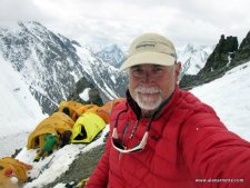 Alan at Camp 1 on K2