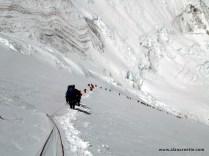 Climbing Lhotse Face