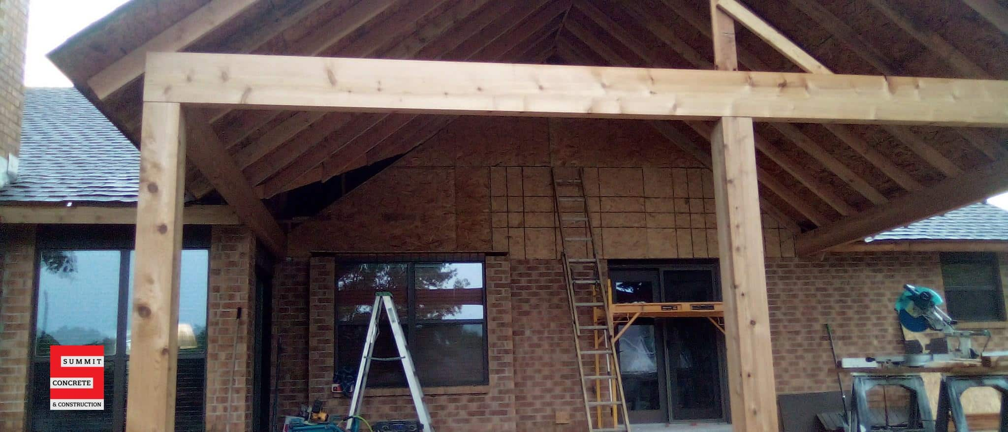 Custom Cedar Patio with Cathedral Ceiling Ponca City OK Summer 2020 8