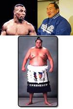 Tyson, Asashoryu e Akebono