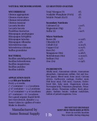 Sumo Cakes® Buds & Blooms Granular Back Label