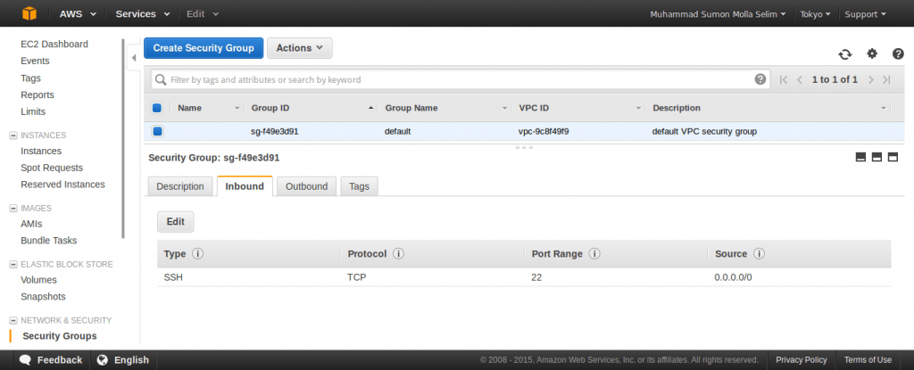Security Group on EC2 Instance