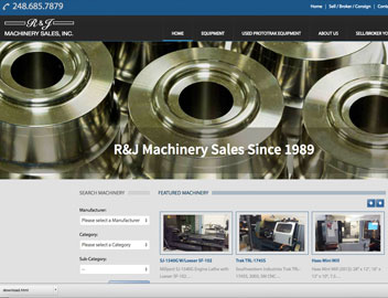 RJ Machinery Sales – B2B Site
