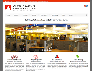 Oliver/Hatcher Construction Web Design