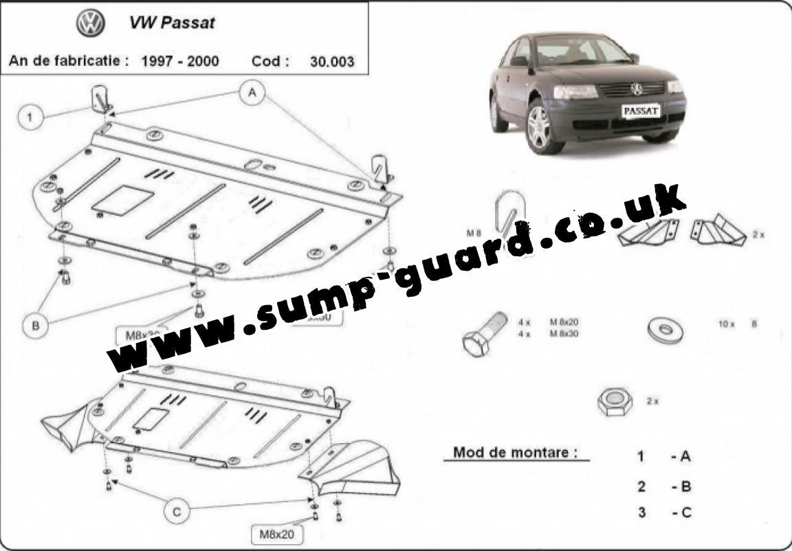 Steel Sump Guard For Vw Passat B5