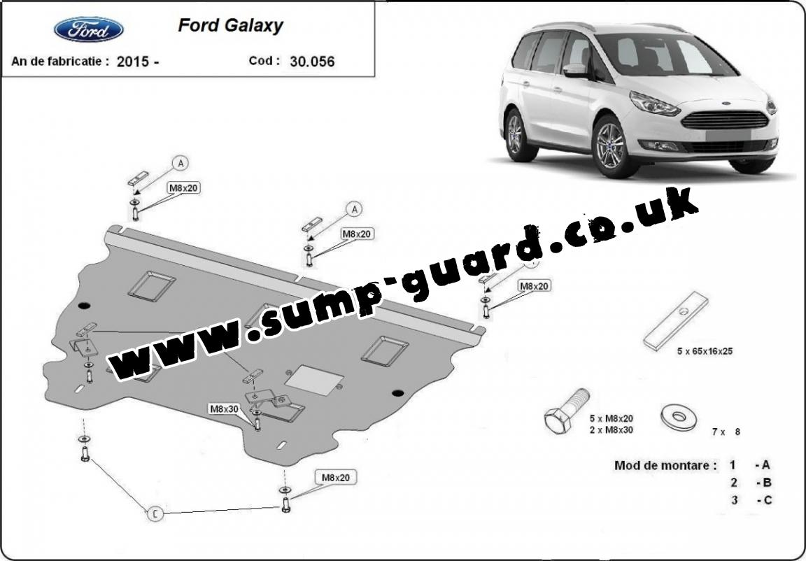 Steel Sump Guard For Ford Galaxy 3