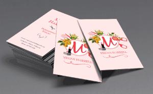 Business Card Design for Megan Harrell