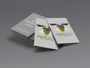 Business Card Design for MooseTacos Eco Apiary