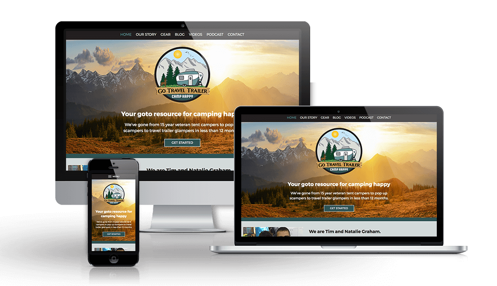 Launch of website design for Go Travel Trailer