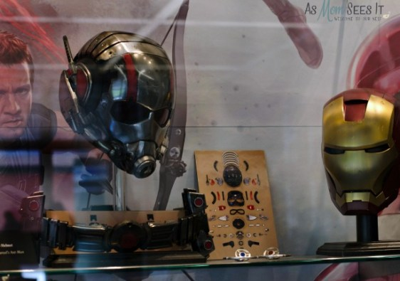 Costumes for Iron Man and Ant Man from the Marvel films