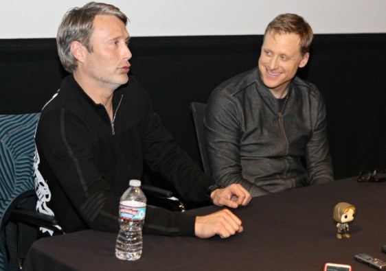 Mads Mikkelsen and Alan Tudyk discuss their roles in Rogue One: A Star Wars Story