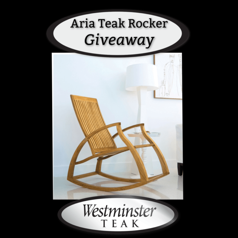 Enter To Win The Ergonomic Aria Teak Rocker Valued At $1720!