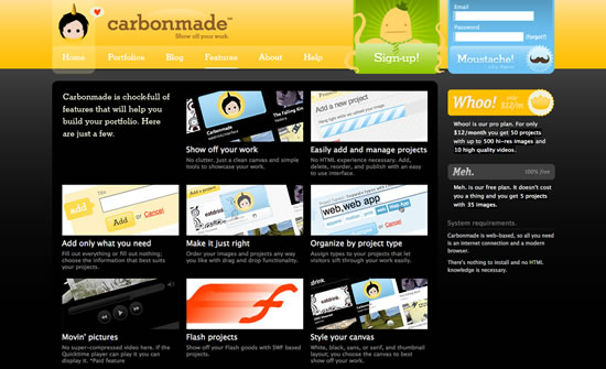 Carbonmade website