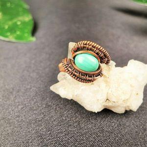 Malachit-ring SunayLaLuna Semipreciousstonejewelry