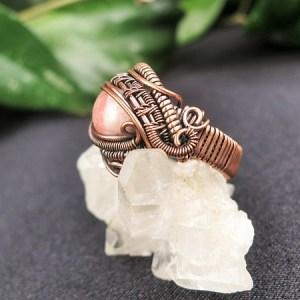 Rhodochrositering Semipreciousstonejewelry SunayLaLuna