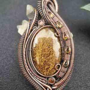 Bronzit-Medallion semipreciousstonejewelry SunayLaLuna