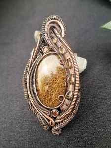 Bronzite-Medallion SunayLaLuna Gemsjewelry