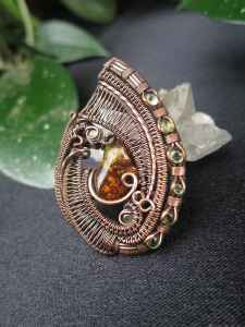 Fireagate-Medallion Gemsjewelry SunayLaLuna