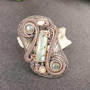 Labradorite-Medallion SunayLaLuna Semipreciousstonesjewelry