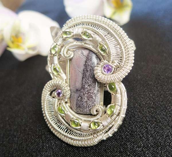 SciFi-Jaspis-Medaillon Silberschmuck SunayLaLuna