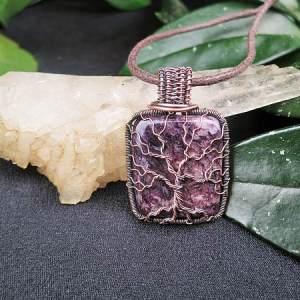 Charoite-Pendant TreeOfLife Jewelrydesign