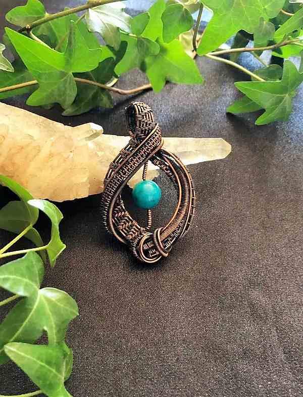 Chrysocolla-Pendant Chrysocolla-Jewelry Jewelrydesign
