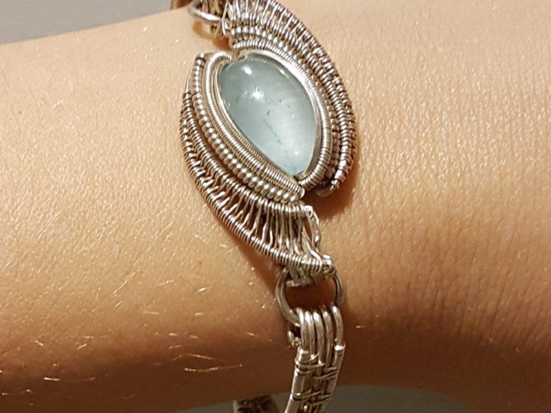 Silverbracelet Silverjewelry Silverarmcuff Aquamarine