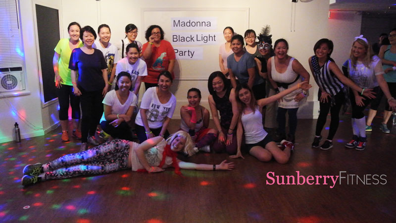 Madonna black light disco party with hip hop fitness & zumba with Reyanna & Sam in Vancouver