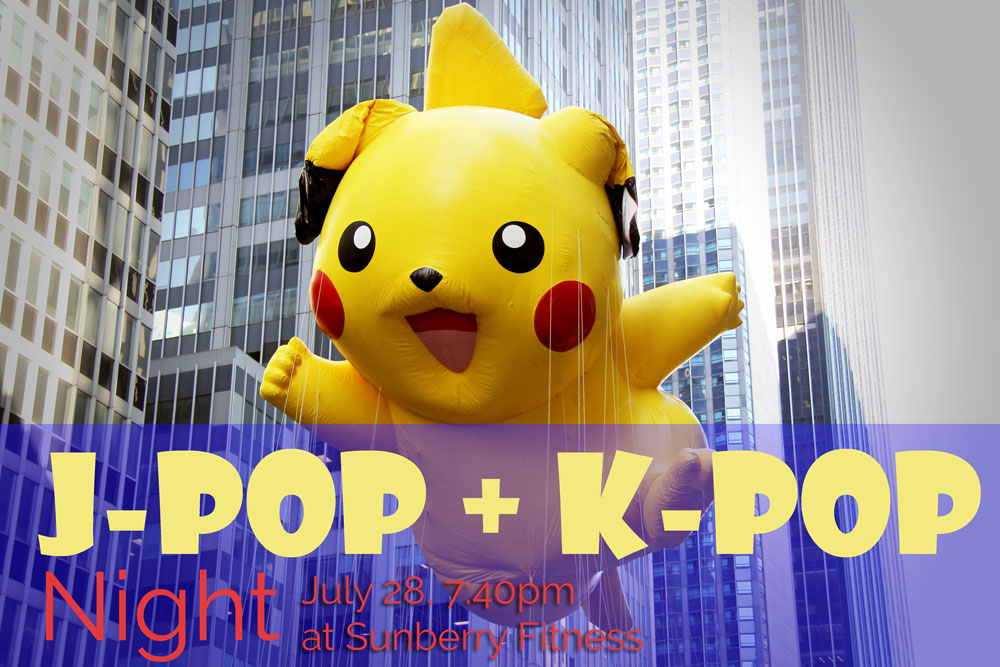 pokemon fitness class jpop kpop night with adele at sunberry fitness