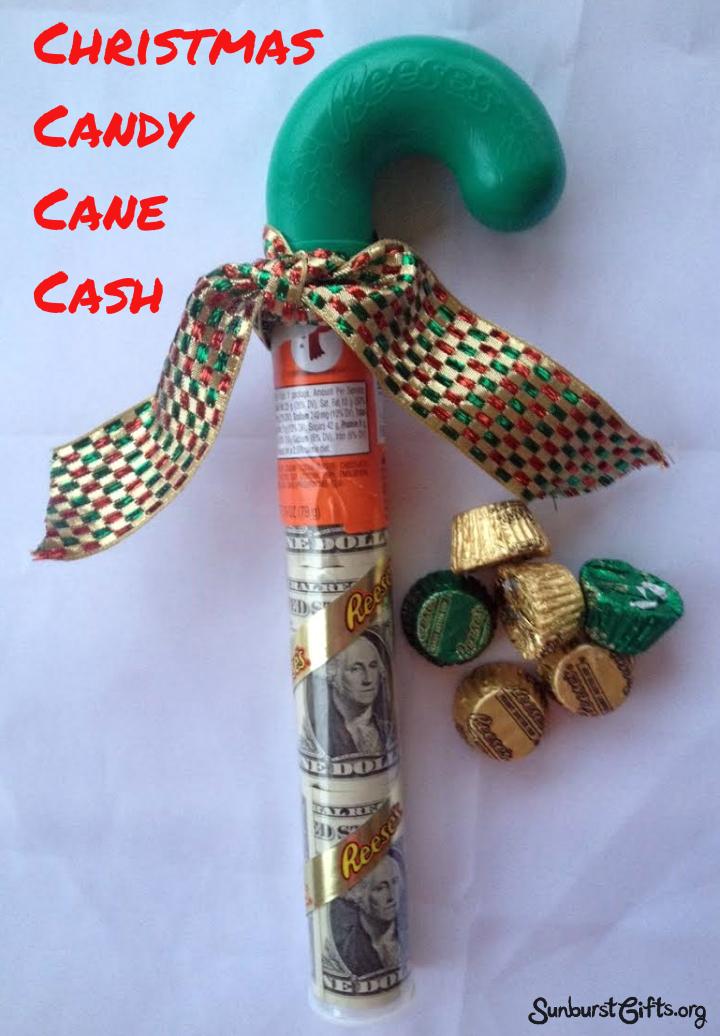 Christmas Candy Cane Cash Thoughtful Gifts Sunburst