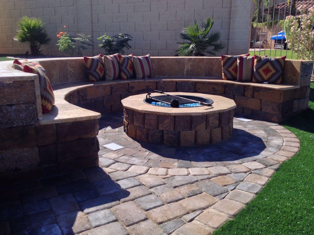 Residential Hardscape Designs | Phoenix AZ | Sunburst ... on Backyard Hardscape Ideas  id=24144