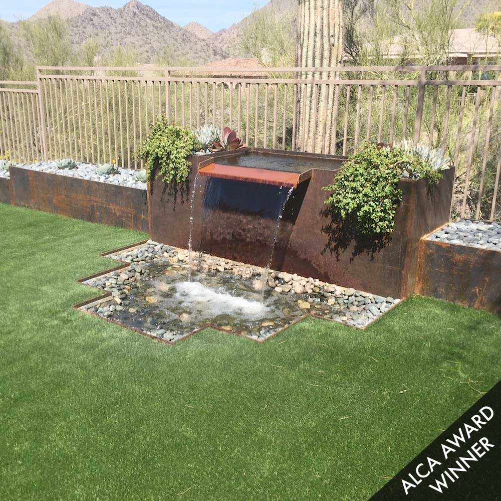 Residential Hardscape Designs | Phoenix AZ | Sunburst ... on Backyard Hardscape Ideas  id=35386