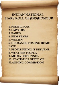 LIARS ROLL OF DISHONOUR