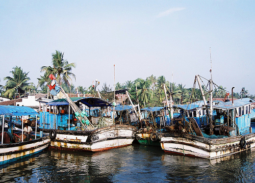 The type of boats that we were heading straight towards