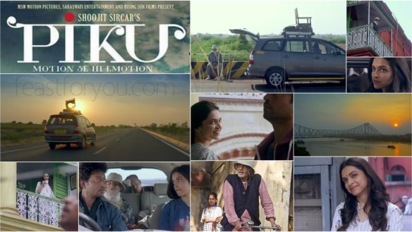 2015 movie Piku's pics courtesy: www.feastforyou.com. Bhaskor's obsession with his constipation at the expense of his daughter's happiness is reflected in the commode he carries atop the vehicle that takes them 1500 kms from Delhi to Kolkatta