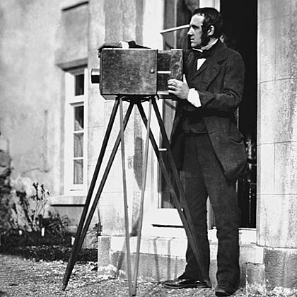 (Photo courtesy: www.culture24.org.uk showing the picture of a man operating one of the first cameras)