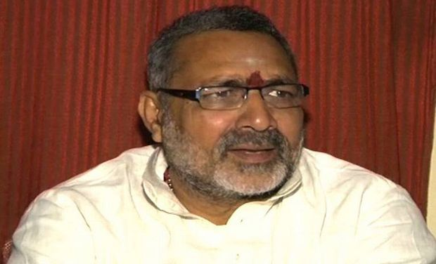 BJP MP Giriraj Singh who was banned by the Election Commission from campaigning in Jharkhand and Bihar for his controversial remarks that people who do not vote for Narendra Modi will have to find a place in Pakistan. (Pic courtesy: www.deccanchronicle.com)