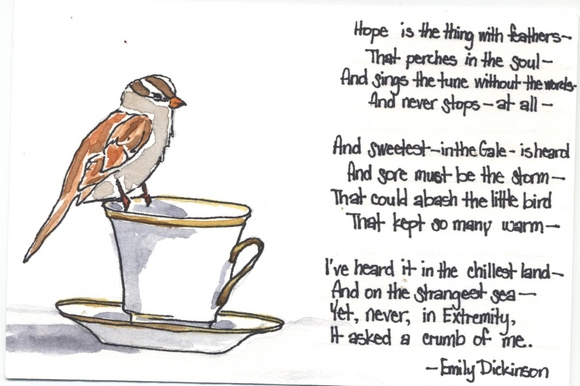 A Bird Called Hope by Emily Dickinson