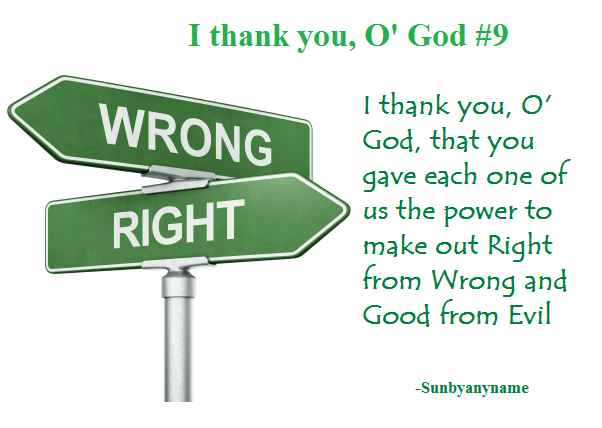 I thank you O God 9