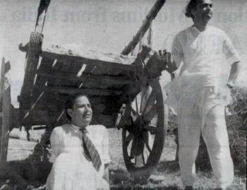 Shakeel Badayuni (Sitting) and Naushad (Standing)