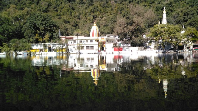 The temple of Lord Parshuram stands at the bank of Renuka Lake