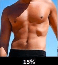 15 percent body fat how to get buff