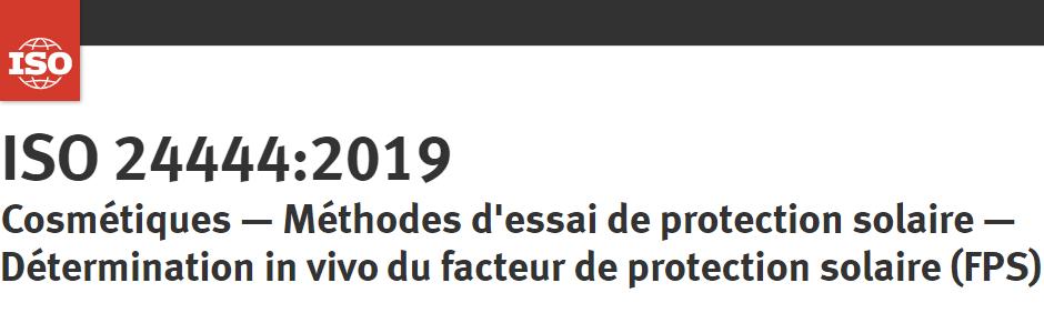 Publication de la nouvelle norme ISO 24444:2019