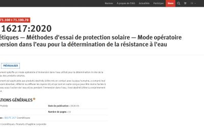 Publication de la nouvelle norme ISO 16217:2020