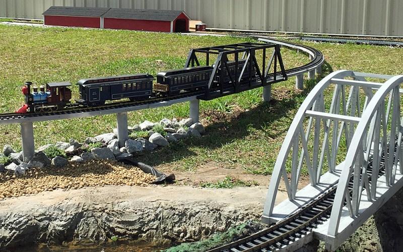 Outdoor Model Train