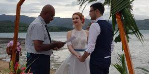 Another Beautiful Island Wedding at Wananavu Beach Resort