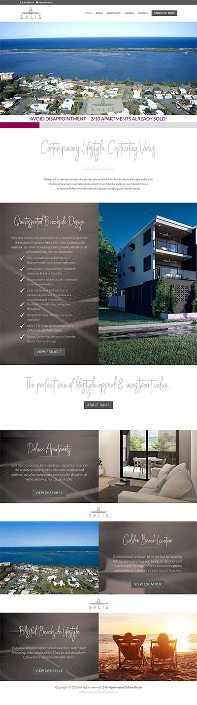 development apartments website design